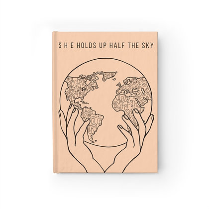 "Blank ""Women Hold Up Half the Sky"" Journal"