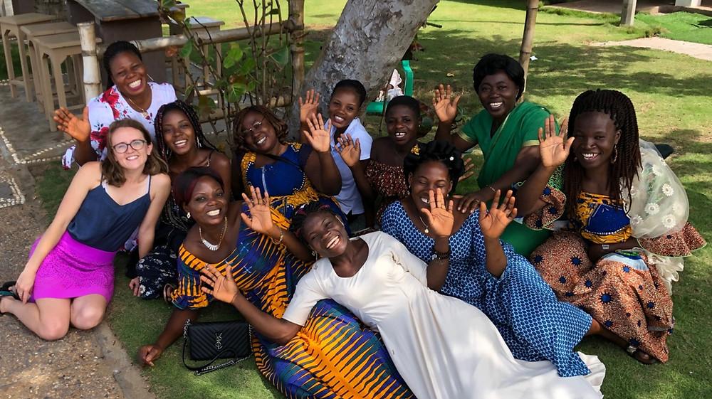 Back row (left to right) Amoeno, Fawzi, Francoise, Ameyo, Abla, Mawudina Front Row (left to right): Payton, Edithe, Akouto, Afi, Wassila