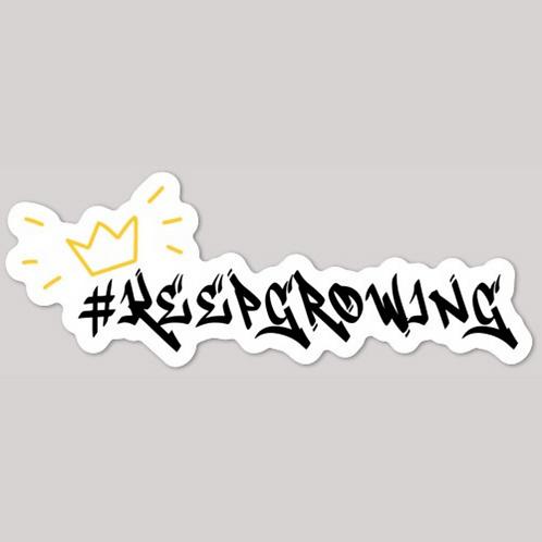 #KeepGrowing Glossy Die Cut Sticker