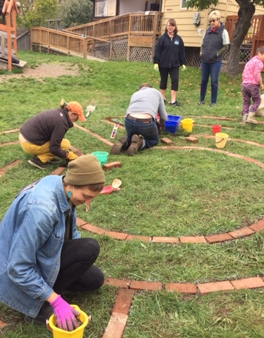 Building the garden labyrinth