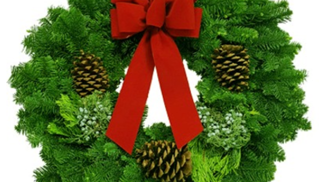 "36"" Fragrant Holiday Wreath - On Island Pick-Up or Delivery Only"