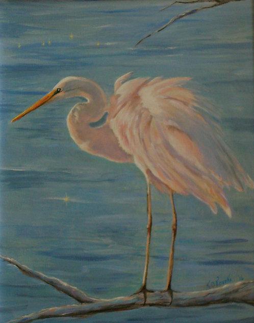 Twilight Tableau (Egret)