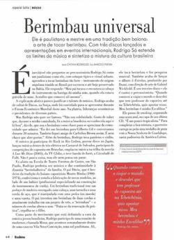 Artigo na Revista Brasileiros
