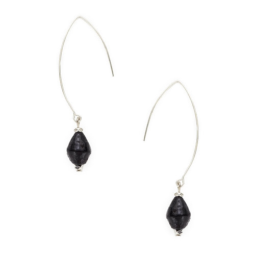 Rahisi Sterling Earrings - Midnight Blue