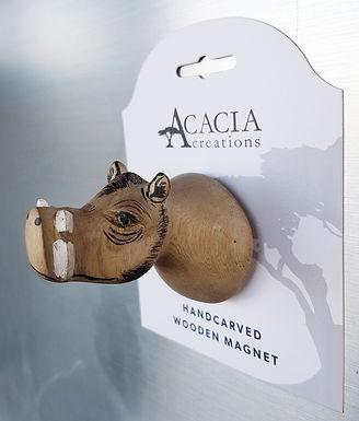 Hand-carved Warthog Magnet