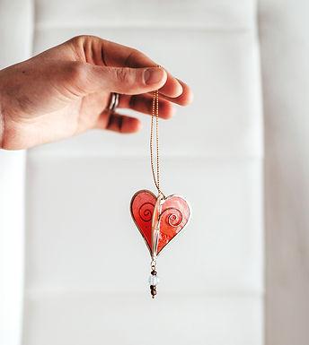 Capiz Heart Ornament