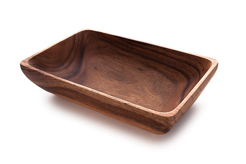 "Acacia Wood 12"" Rectangle Bowl"