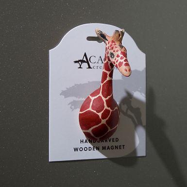 Hand-carved Giraffe Magnet