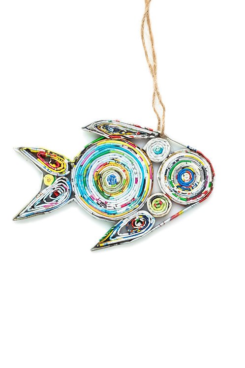 Recycled Paper Fish Ornament