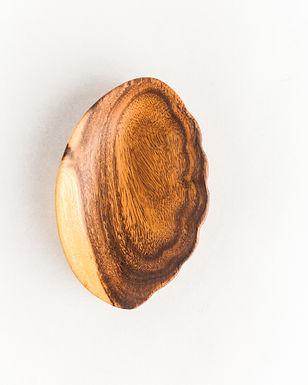 Acacia Wood Shell Trinket Dish