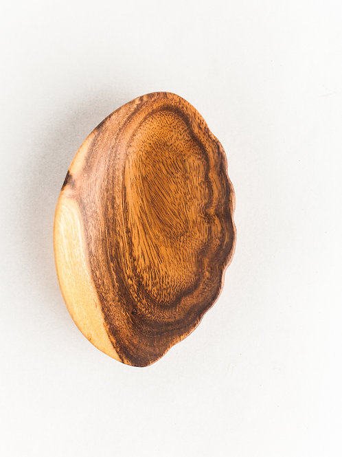 Acacia Wood Shell Trinket Dish