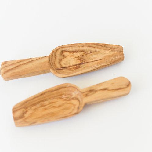 Olive Wood Spice Scoop Set