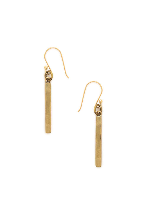 Recycled Brass Bar Earrings