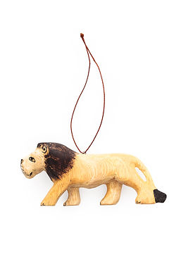 Hand-carved Lion Ornament