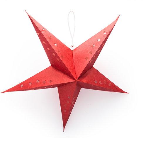 "Crimson Shimmer 22"" Recycled Paper Lantern"
