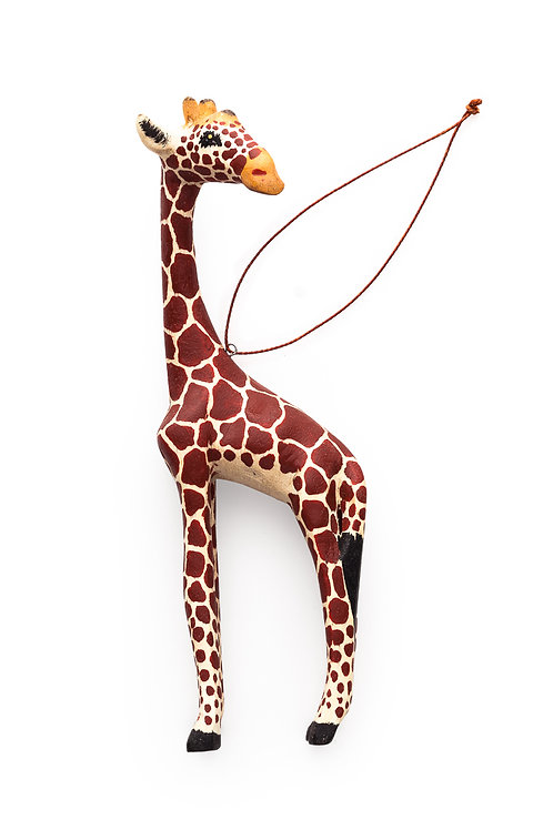Hand-carved Giraffe Ornament