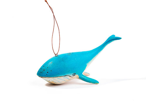 Hand-carved Whale Ornament