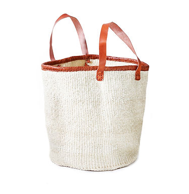 "The15""  Market Tote - Natural White"