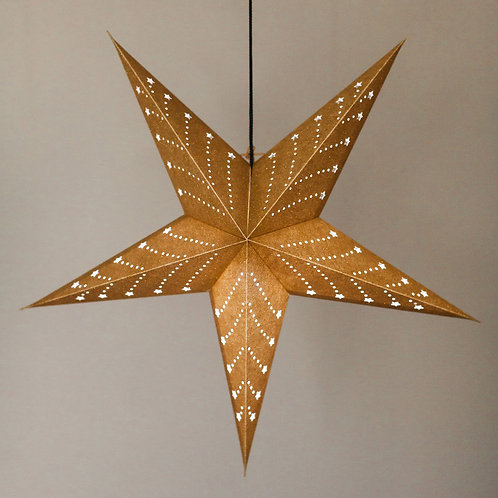 """Gold Shimmer 22"""" Recycled Paper Lantern"""