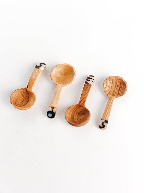 Olive Wood Teaspoon Set
