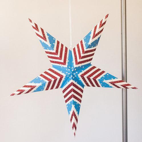 "22"" American Flag Star Lantern"
