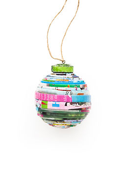 Recycled Paper Tiny Ball Ornament