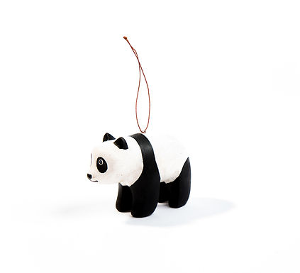 Hand-carved Panda Ornament