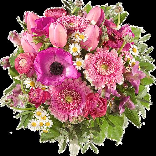 Einfarbiger Blumenstrauß XL