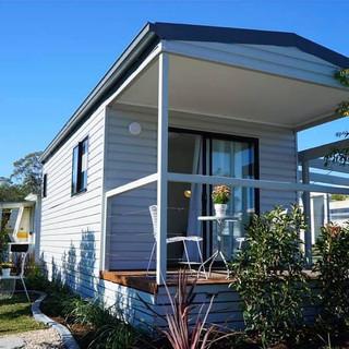 Caravan Park Portable Cabin Front