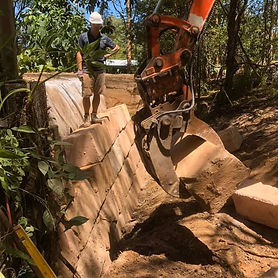 Sandstone Retaining Walls, The Gap
