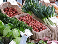 Fresh local vegetables at the Winter Farmers Market