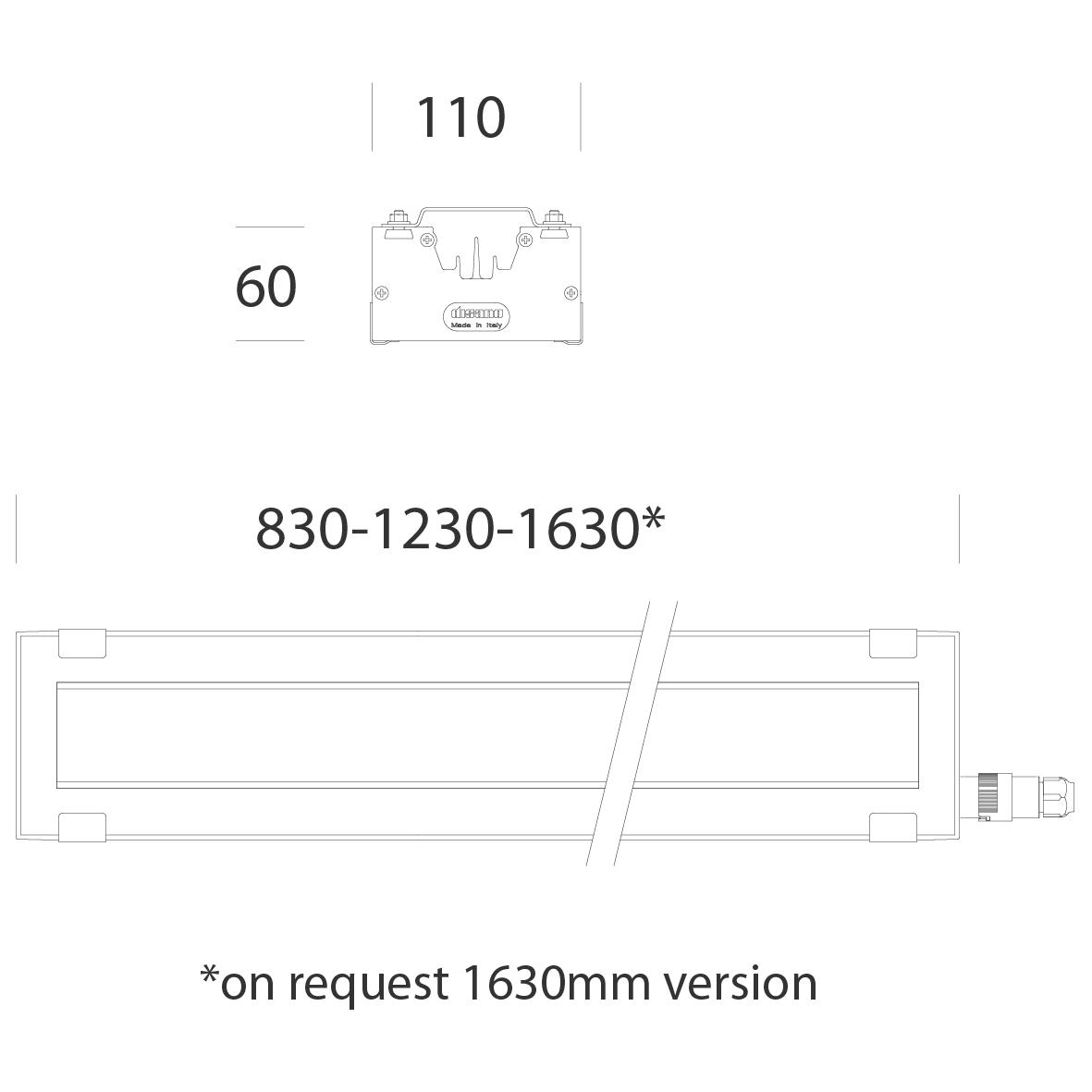 2161 Radon HP - wide beam - UGRx22 dims.