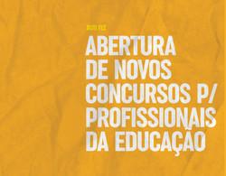 Abertura de novos concursos para profissionais da Educação
