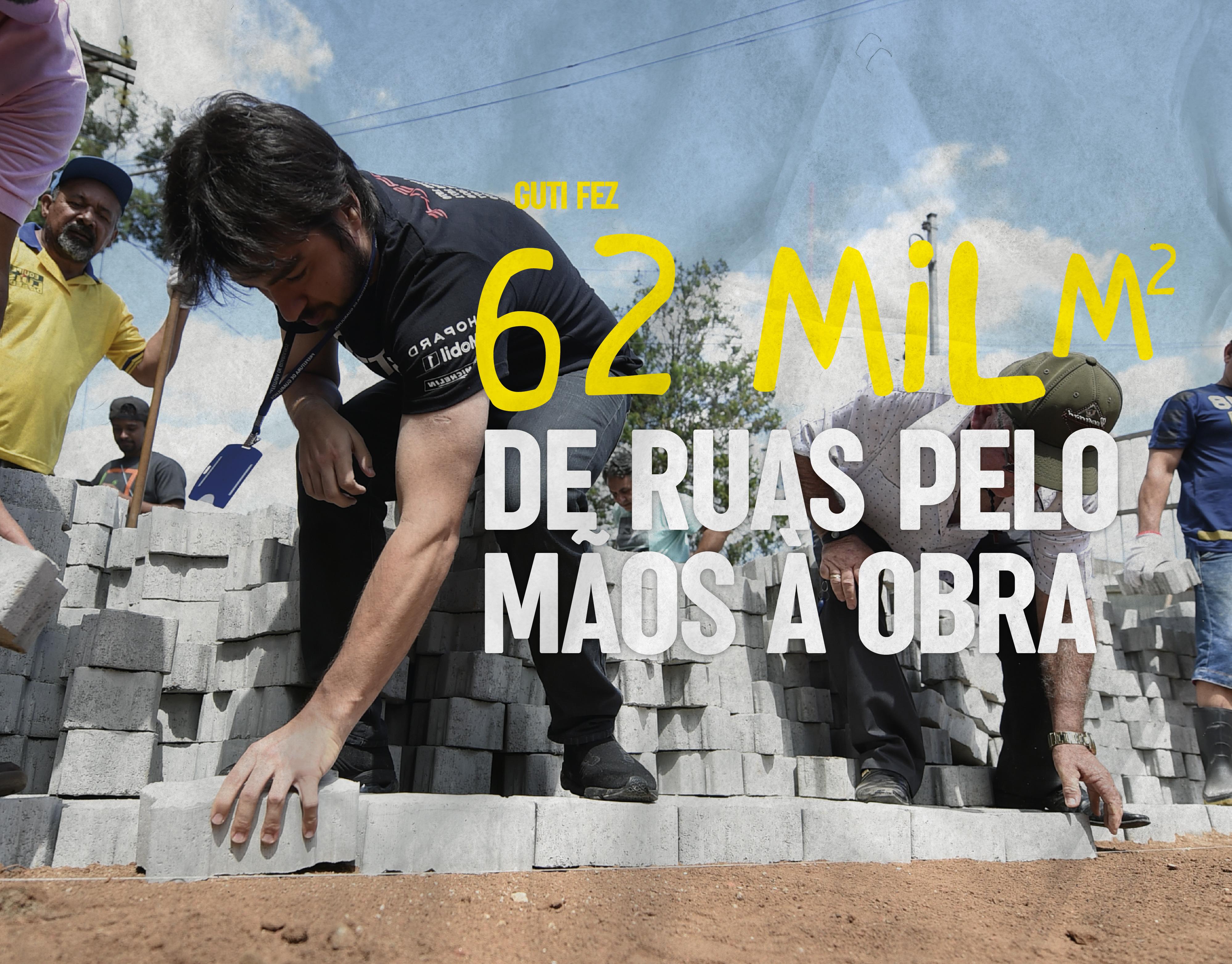 62.000 metros quadrados de ruas pelo Mãos à Obra