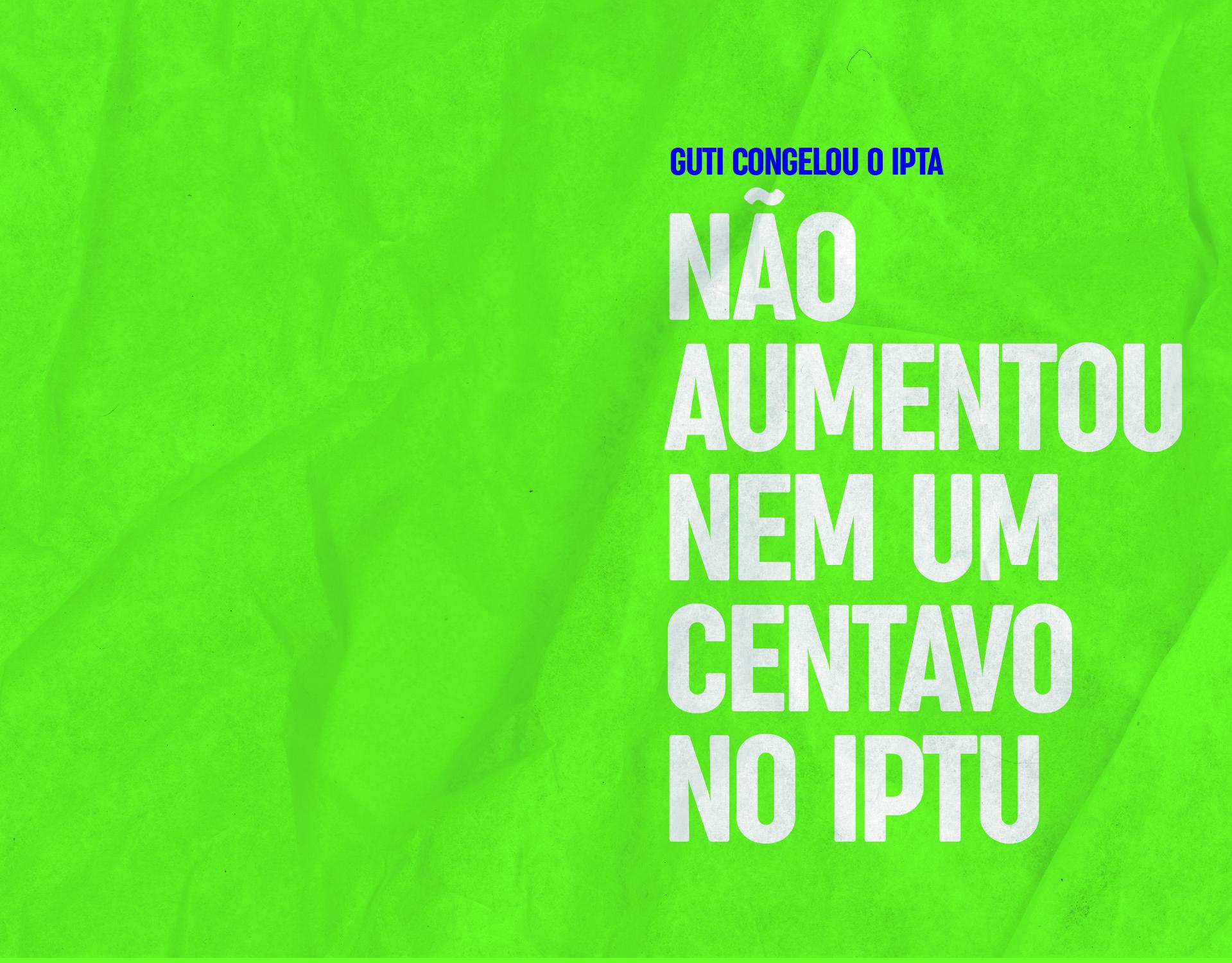 Não aumentou nem um centavo no IPTU