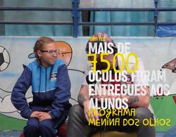 Mais de 7500 óculos foram entregues aos alunos do Programa Menina dos Olhos