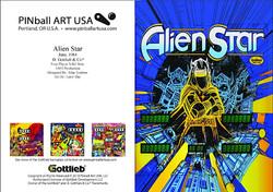 Alien Star greeting card