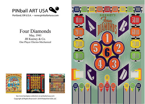Four Diamonds Greeting Card
