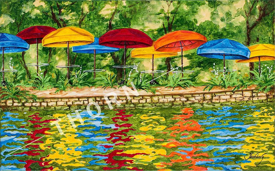 Orange Umbrella by Karen Thornberg