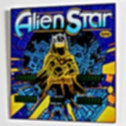 Alien Star backglass print