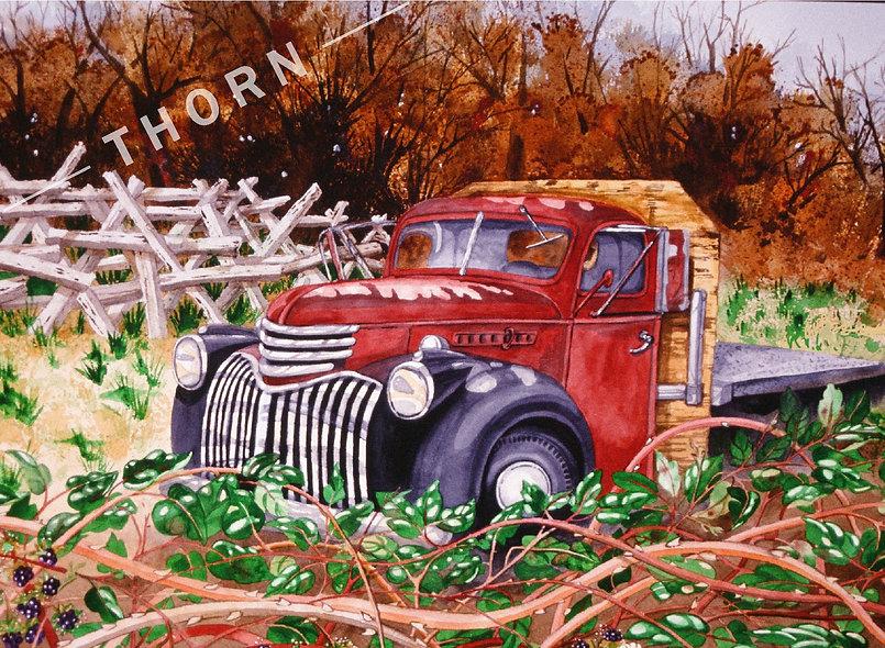 '48 Flatbed Chevy #2 by Karen Thornberg