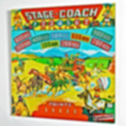 Gottleib Stage Coach backglass art print