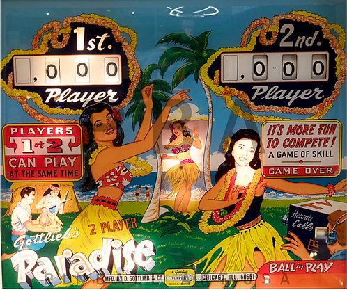Paradise 1965 Gottlieb