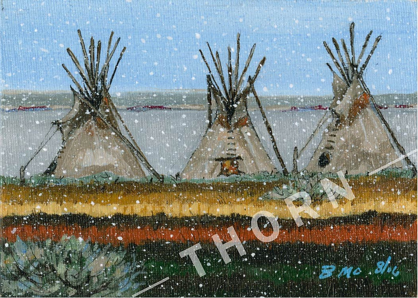 Three Teepees by Brian McNicholas