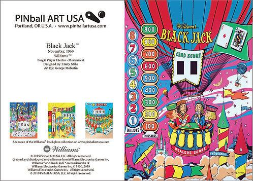 Black Jack Greeting Card