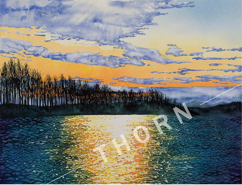 Sunset On the McKenzie by Karen Thornerg