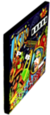 Astro pinball backglass art print on canvas