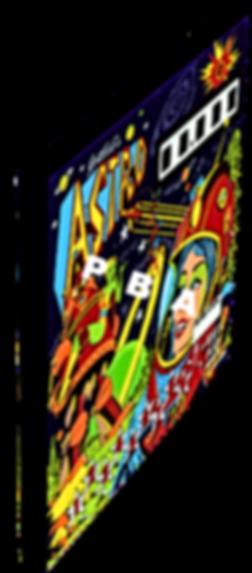 Astro pinball backglass art print on canvas