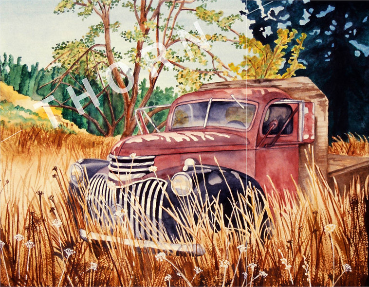 '48 Flatbed Chevy by Karen Thornberg