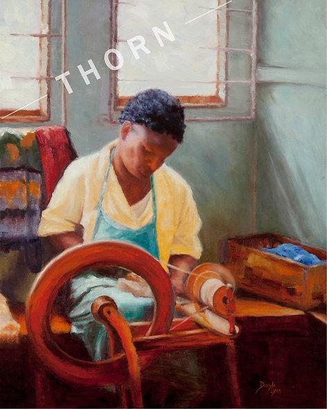 African Spinner by Daryle Lynn Cornelison
